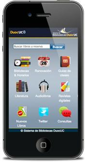 celular biblioteca duoc